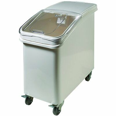 Winco IB-21 Ingredient Bin, 21-Gallon Clear, see through plastic front cover