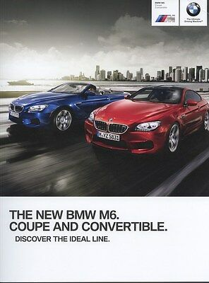 2013 BMW M6 Coupe & Convertible Prestige Brochure d0885