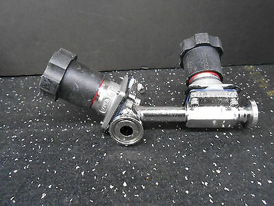 "Itt Pure Flow .5"" Diaphragm Valve W/ .5"" Branch Valve ½"" Sanitary Tri Clamp"