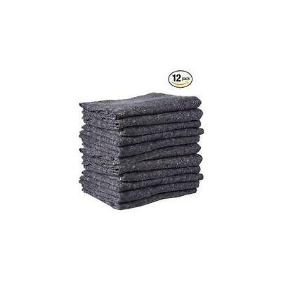 "Cheap Cheap Moving Boxes - Textile Moving Blankets (12-Pack) - Grey - 72"" x New"