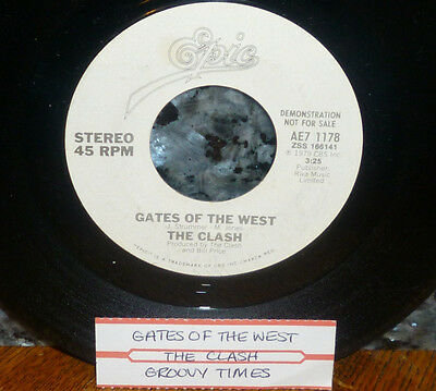 "*<* RARE PROMO-only CLASH! ""GATES OF THE WEST/GROOVY TIMES"" CLEAN M- GEM 45/SLV!"