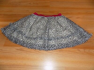 Toddler Size 4T The Children's Place Cheetah Leopard Print Tulle Skirt Pink Band