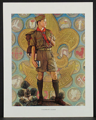 Brown & Bigelow TOMORROW'S LEADER Norman Rockwell 1959 4-color Lithograph Print