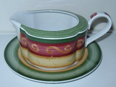 Villeroy and Boch Switch Freske Holiday Gravy Boat with Saucer/Plate