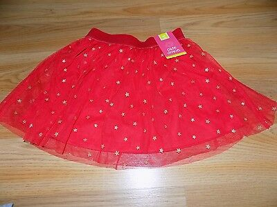 Size 4T Okie Dokie Red Gold Glitter Stars Tutu Skirt 4th of July Holiday New
