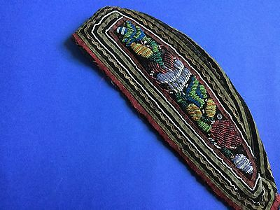 Native American Indian Antique Beaded Glengarry/ Iroquois / Woodland Indian