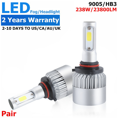 2x Philips 238W 23800LM HB3 9005 COB LED Headlight Bulb 6500K Single White Beam