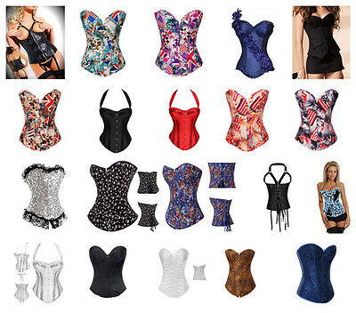 Women's Bustier Corset Top Burlesque Boned Corsets Lingerie Shapewear Shapers