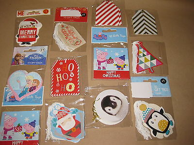 100 PACKETS GIFT TAGS LABELS CHRISTMAS TAG 1000pcs RESELL WHOLESALE JOB LOTS