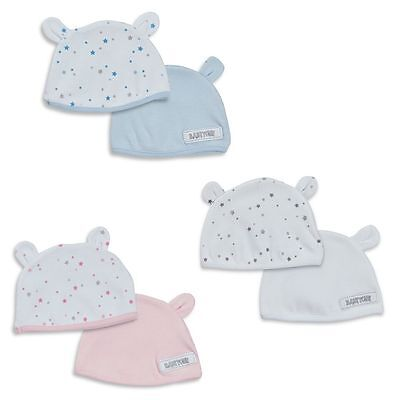Babytown 2 Pack Cotton Teddy Ears Hat