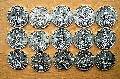 Scottish Shillings 1937 to 1951 - all Bright Uncirculated -  choose your date