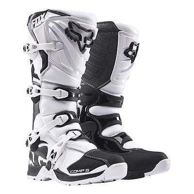 FOX 2016 Motocross/ Enduro Stiefel COMP 5 - weiß Motocross Enduro MX Cross