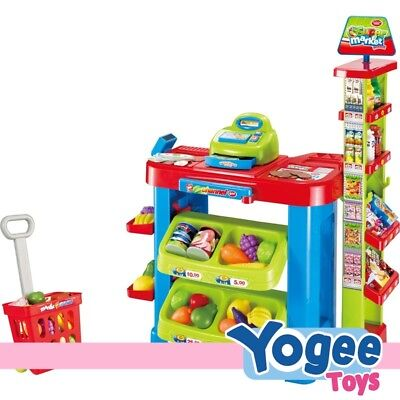 Pretend Play Grocery Super Market Play Table