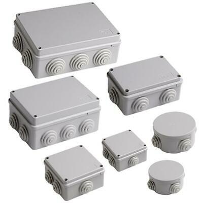 All Size Adaptable PVC Box Enclosures With Grommets & Lid IP56 IP44 Weatherproof