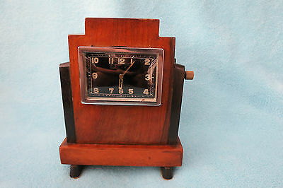 Vintage Art Deco Swiss 8 Day Car Clock