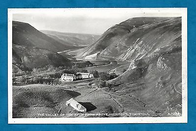 C1950's Rp Pc Valley Of The Avon From Above Inchrory, Tomintoul