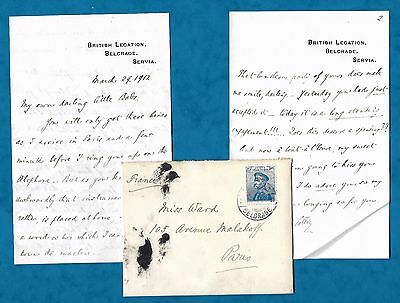 1912 Love Letter From Colville Barclay British Diplomat To Future Wife