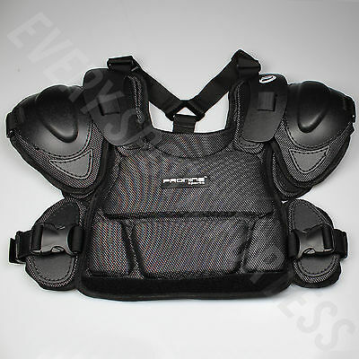 Pro Nine Senior Baseball and Softball Umpire Chest Protector - Black (NEW)