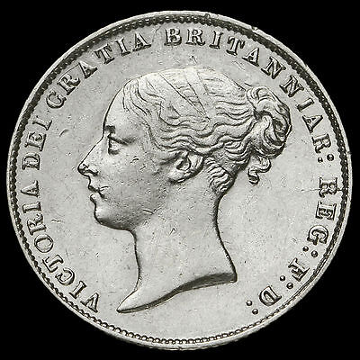 1864 Queen Victoria Young Head Silver Sixpence, Scarce