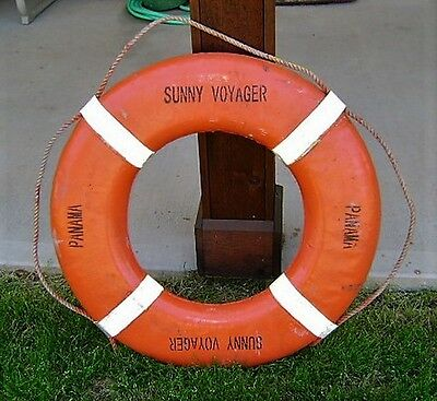 Vintage Life Ring From Bulk Carrier Sunny Voyager Panama - Original Ship Salvage