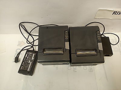 -2x  Epson TM-T88V Thermal POS Printer M244A PARALLEL/USB INTERFACE W/AC ADAPTER