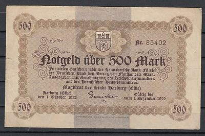 Harburg   -   Magistrat der Stadt   -   500 Mark   -   1. Okt. 1922