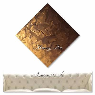 Gold Textured Abstract Art Contemporary Metallic Painting Wall Canvas Art Xl