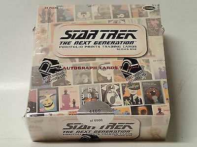 STAR TREK TNG Portfolio Prints Series 1 Sealed Box of Trading Cards! 24 Packs