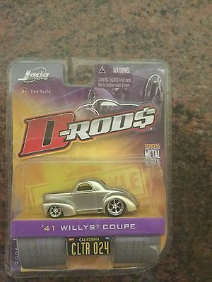 Jada Toys 1/64 Scale Diecast D-rods 1941 Willys Coupe in Champaign