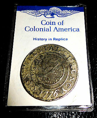 1776 Continental Dollar Currency COPY Coin Colonial America We are one mind your