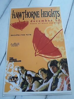 """HAWTHORNE HEIGHTS Concert Poster ESCAPE FATE San Diego House of Blues 11""""x17"""""""
