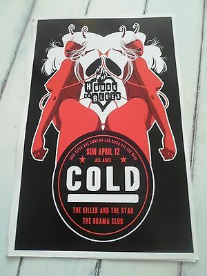 """COLD Concert Poster THE KILLER STAR DRAMA CLUB San Diego House of Blues 11""""x17"""""""