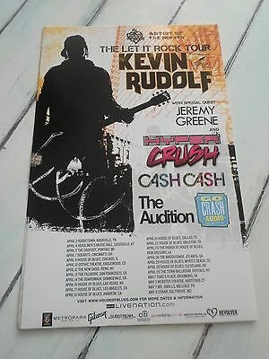 """KEVIN RUDOLF Concert Poster JERMEMY GREENE San Diego House of Blues 11""""x17"""""""