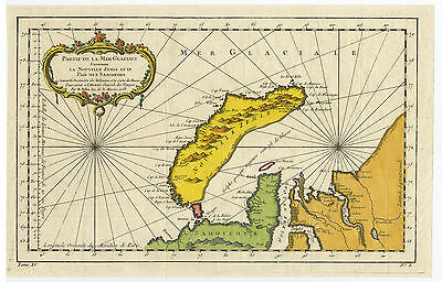 Antique Print-NOVAYA ZEMLYA-RUSSIA-BARENTS SEA-Bellin-1758
