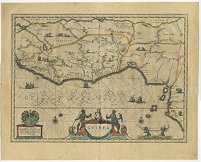 Antique Print-WEST AFRICA-GUINEA-Blaeu-c. 1638