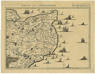 Antique Print-ENGLAND-ENGLISH CHANNEL-DOVER-SHIPS-Fricx-Harrewijn-c. 1709