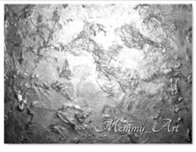 Silver Grey Textured Abstract Art Metallic Painting Wall Canvas Art Xl Memmy Art