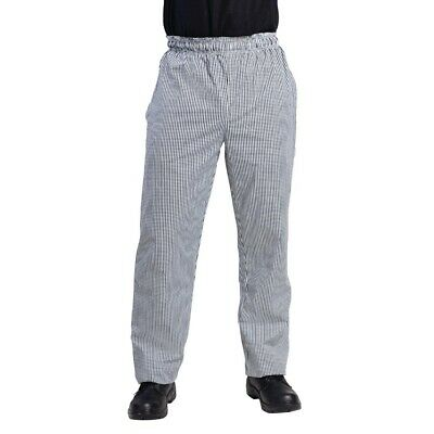 Whites Vegas Chefs Pants Small Black and White Check S BARGAIN