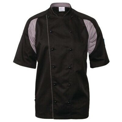 Le Chef Staycool Lightweight Executive Jacket Black XXL BARGAIN