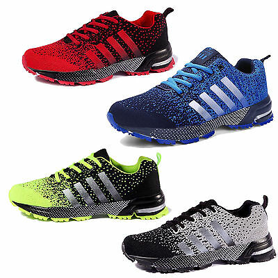 New Men's Trainers Running Breathable Shoes Sports Casual Sneakers Athletic