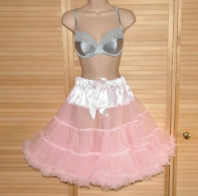 PP18 - Fluffy feminine flouncy French Maid petticoat, BN, adult, double layered