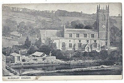 BLOCKLEY St Peter & St Paul Church, Old Postcard Postally Used