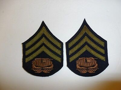 b0728p 1930's-WW 2 US Army unofficial Tank Corps Sergeant Chevrons pair R1D