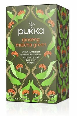 Pukka Herbal Organic Tea - Ginseng Matcha Green (20 Sachets) - Buy More Save