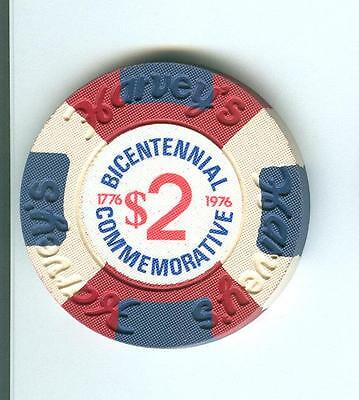 $2 Harvey's  Casino Poker Chip--Bicentennial