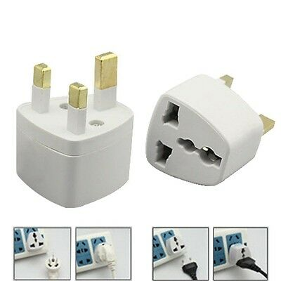 1x European Converter EU 2 to 3 Pin Plug UK Travel Mains Power Adaptor