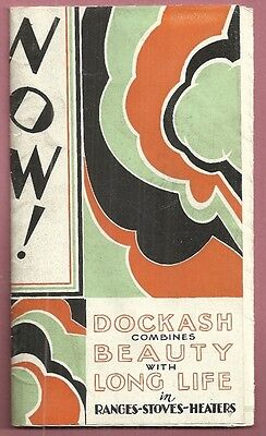 1910 Advertising Brochure DOCKASH RANGES STOVES HEATERS Coal Gas