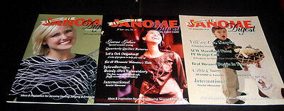 Lot Of 3 International Janome Digest Magazine ~ 2004-2005 ~ Sewing~ Embroidery +