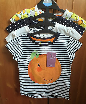 *NEW WITH TAGS* TU Girls T-shirts Size 18-24 months