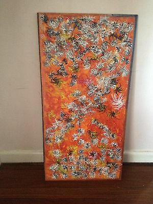 Abstract Oil On Board Painting Contemporary Art Signed Original